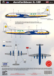 1/144 Scale Decal Aerocaribbean IL-18