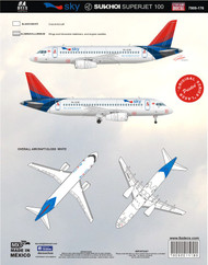1/144 Scale Decal Sky Aviation Sukhoi SSJ 100