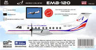 1/144 Scale Decal Aereo Calafia EMB-120