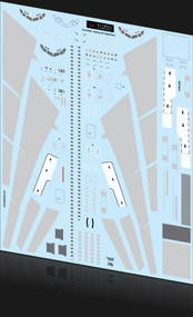 1/144 Scale Decal Coroguard 707 (Light Grey)
