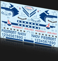 1/72 Scale Decal Piedmont DC-3 Factory Livery