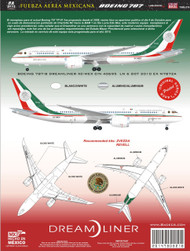 1/144 Scale Decal Fuerza Aerea Mexicana 787 TP01