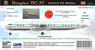 1/144 Scale Decal Panair do Brazil DC-7