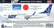 1/144 Scale Decal LOT 737-800
