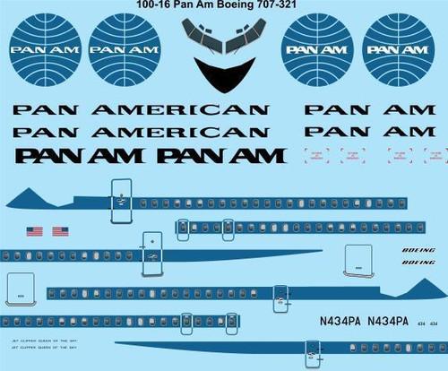 1/100 Scale Decal Pan American 707-321B