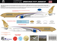 1/144 Scale Decal Gulf Air 777-300ER