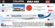 1/144 Scale Decal Calafia Airlines ERJ-145