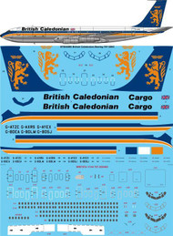1/144 Scale Decal British Caledonian Final Boeing 707-320C