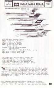 1/144 Scale Decal Continental / Northwest / TWA / Iceandair / Northeast 727
