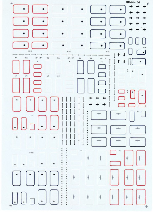 1/144 Scale Decal Airliner Doors and Exit Arrows Version 2