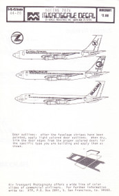 1/144 Scale Decal Zambia / Iraqi / Sudan Airways 707