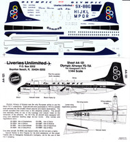 1/144 Scale Decal Olympic Airways YS-11