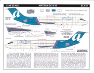 1/144 Scale Decal AirTran DC9-30