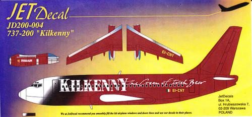 1/200 Scale Decal Ryanair 737-200 Kilkenny