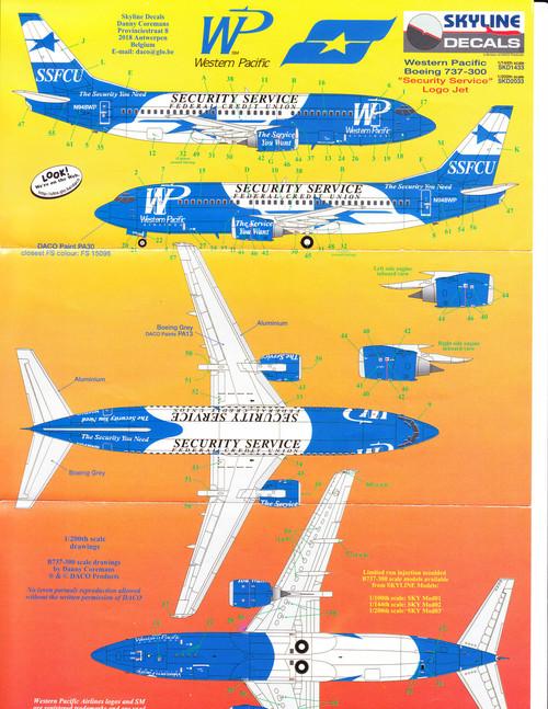 1/200 Scale Decal Security Service FCU 737-300