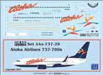 1/144 Scale Decal Alhoa 737-700