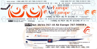 1/144 Scale Decal Air Europe 767-300ER