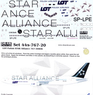 1/144 Scale Decal LOT 767-300ER STAR ALLIANCE