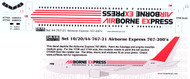 1/144 Scale Decal Airbourne Express 767-200