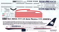 1/144 Scale Decal Aero Mexico 777-200ER