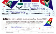 1/144 Scale Decal South African A-320