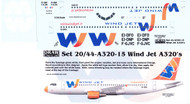1/144 Scale Decal Wind Jet A-320