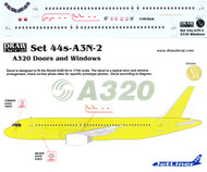 1/144 Scale Decal A-320 Cockpit / Windows / Doors & Details