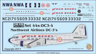 1/144 Scale Decal Northwest DC-3