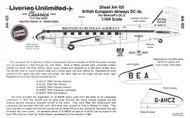 1/144 Scale Decal British European Airways DC-3