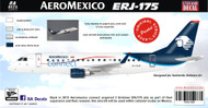 1/144 Scale Decal Aeromexico Connect ERJ-175