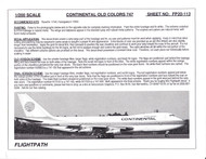 1/200 Scale Decal Continental 747-100 / 200