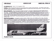 1/200 Scale Decal AOM / Cubana DC10-30