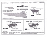 1/200 Scale Decal A-300 Walkways & 727 / DC-10 / L-1011 Tail Variations