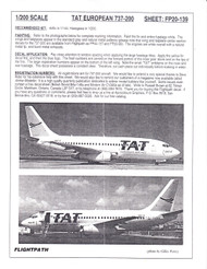 1/200 Scale Decal TAT European Airlines 737-200