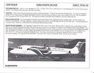1/200 Scale Decal Cebu Pacific DC9-30