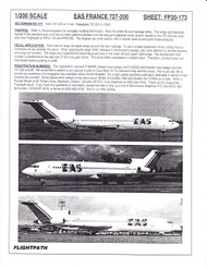 1/200 Scale Decal EAS France 727-200