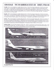 1/200 Scale Decal TNT 707-320B & DC8-73 & 727-100