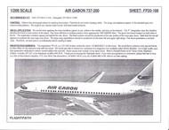 1/200 Scale Decal Air Gabon 737-200