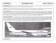 1/200 Scale Decal Air Gabon 767-200