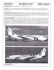1/200 Scale Decal air Liberte 737-200