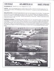 1/200 Scale Decal air Liberte DC10-30