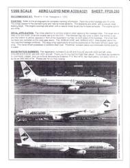 1/200 Scale Decal Aero Lloyd A-320 / A-321