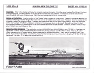 1/200 Scale Decal Alaska Airlines 727-200