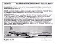 1/200 Scale Decal Braniff International DC8-50 / 62 LIGHT GREEN / DARK GREEN