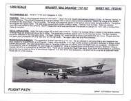 1/200 Scale Decal Braniff International 747-127 BIG ORANGE