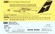 1/144 Scale Decal Qantas Franchise BAe-146