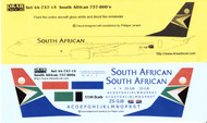 1/144 Scale Decal South African Airways 737-800