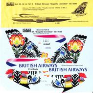 1/144 Scale Decal British Airways 747-400 Kogutki Lowickie