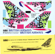 1/144 Scale Decal British Airways 747-400 Animals and Trees