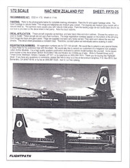 1/72 Scale Decal NAC / Air New Zealand F-27